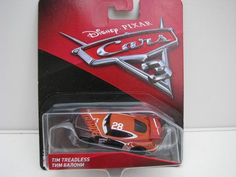 Tim Treadless autíčka Cars Disney Pixar Cars 3 DXV41